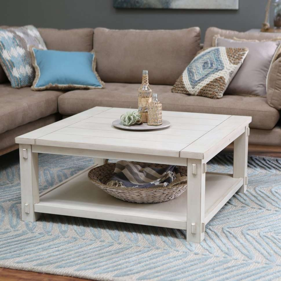 Coffee Tables : White Coffee Table With Storage Baskets Popular Regarding Newest White Coffee Tables With Baskets (View 8 of 20)