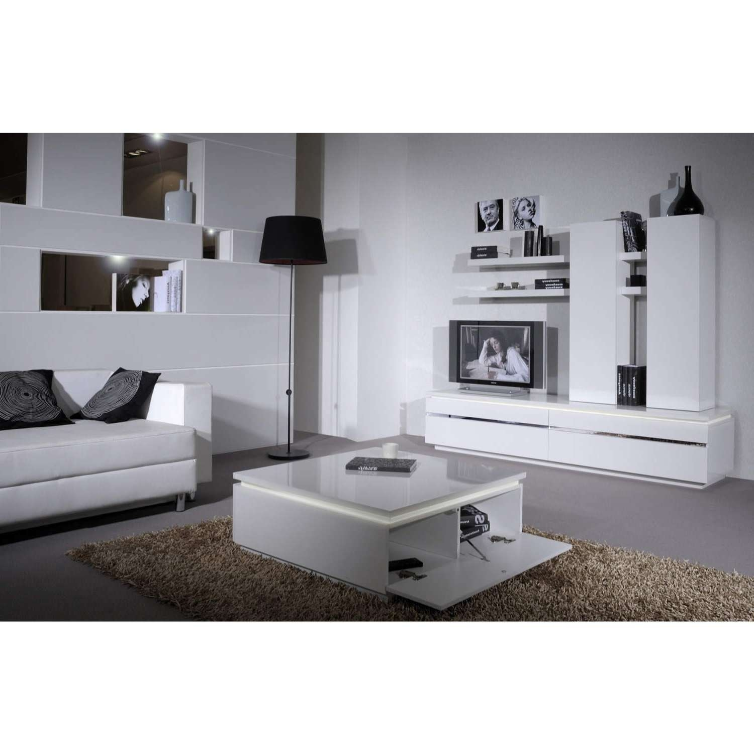 Coffee Tables : White Coffee Table With Storage Swing Swivel Top With Regard To Well Known Gloss Coffee Tables (View 4 of 20)