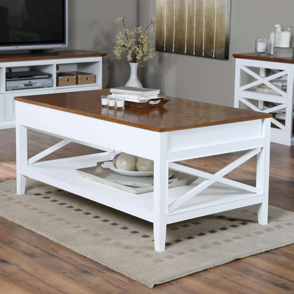 Coffee Tables : White Coffee Tables Fearsome Picture Concept For Most Up To Date White Coffee Tables With Baskets (View 9 of 20)