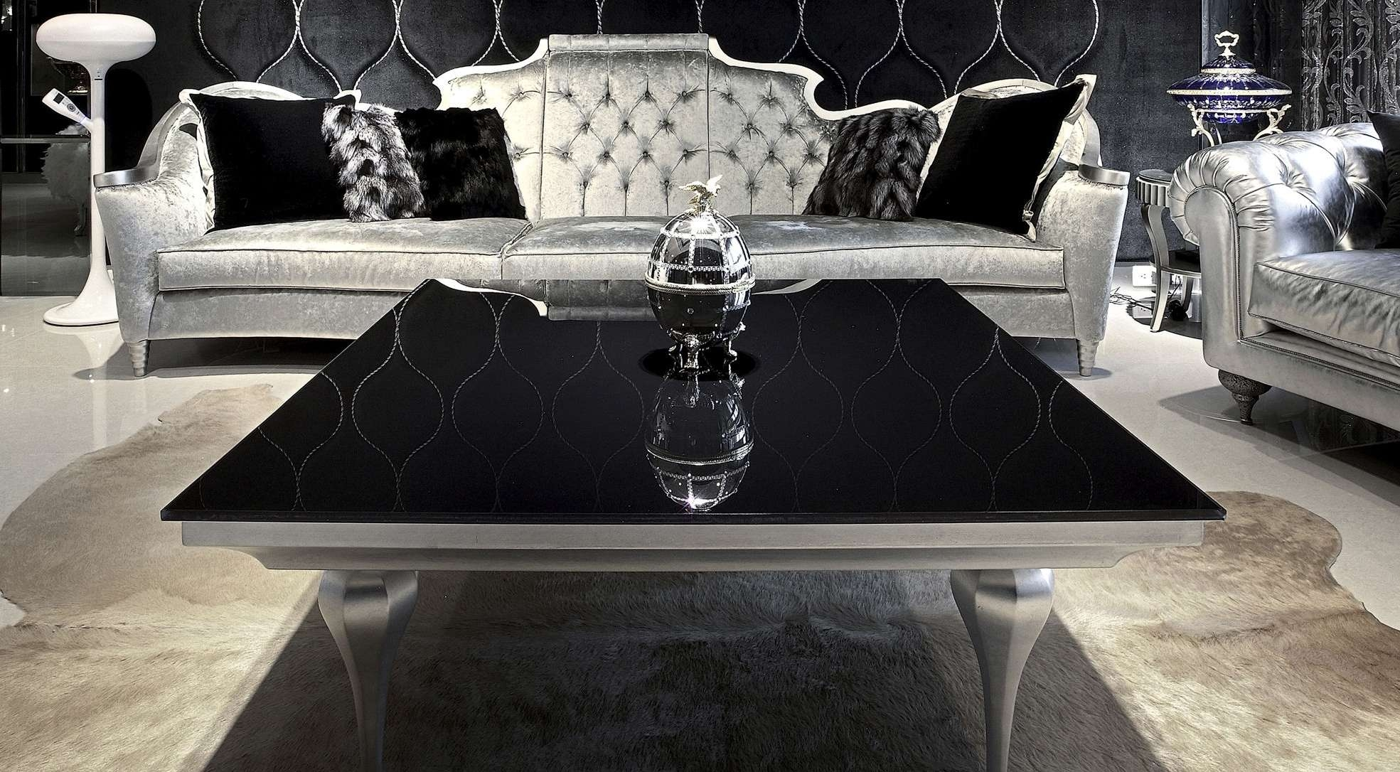 Coffee Tables : White Glass Coffee Table Nella Vetrina Tonelli For Trendy Dark Glass Coffee Tables (View 8 of 20)