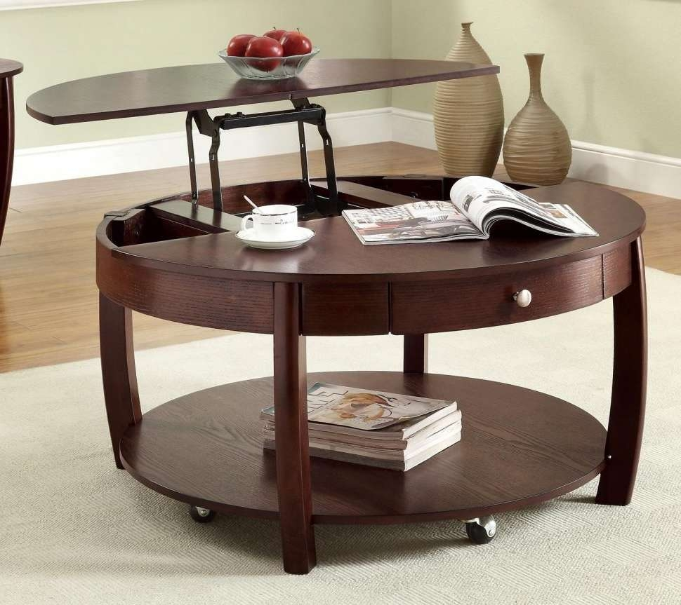 Coffee Tables : White Gloss Lift Up Coffee Table Storage Ottoman Intended For Well Liked Pull Up Coffee Tables (View 18 of 20)