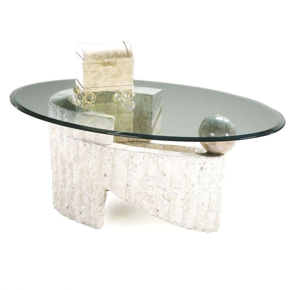 Coffee Tables : White Stone Coffee Table S Top And Glass Marble Or In Popular Glass And Stone Coffee Table (View 7 of 20)