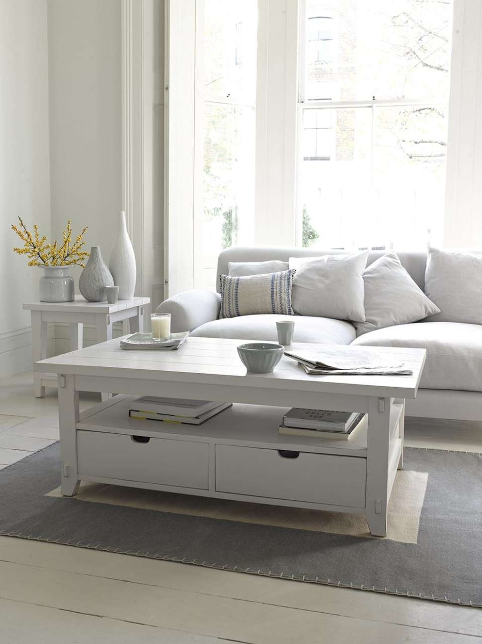 Coffee Tables : White Wood Coffee Table Tables Glass Wooden Ikea Throughout Most Popular Large Low White Coffee Tables (View 3 of 20)