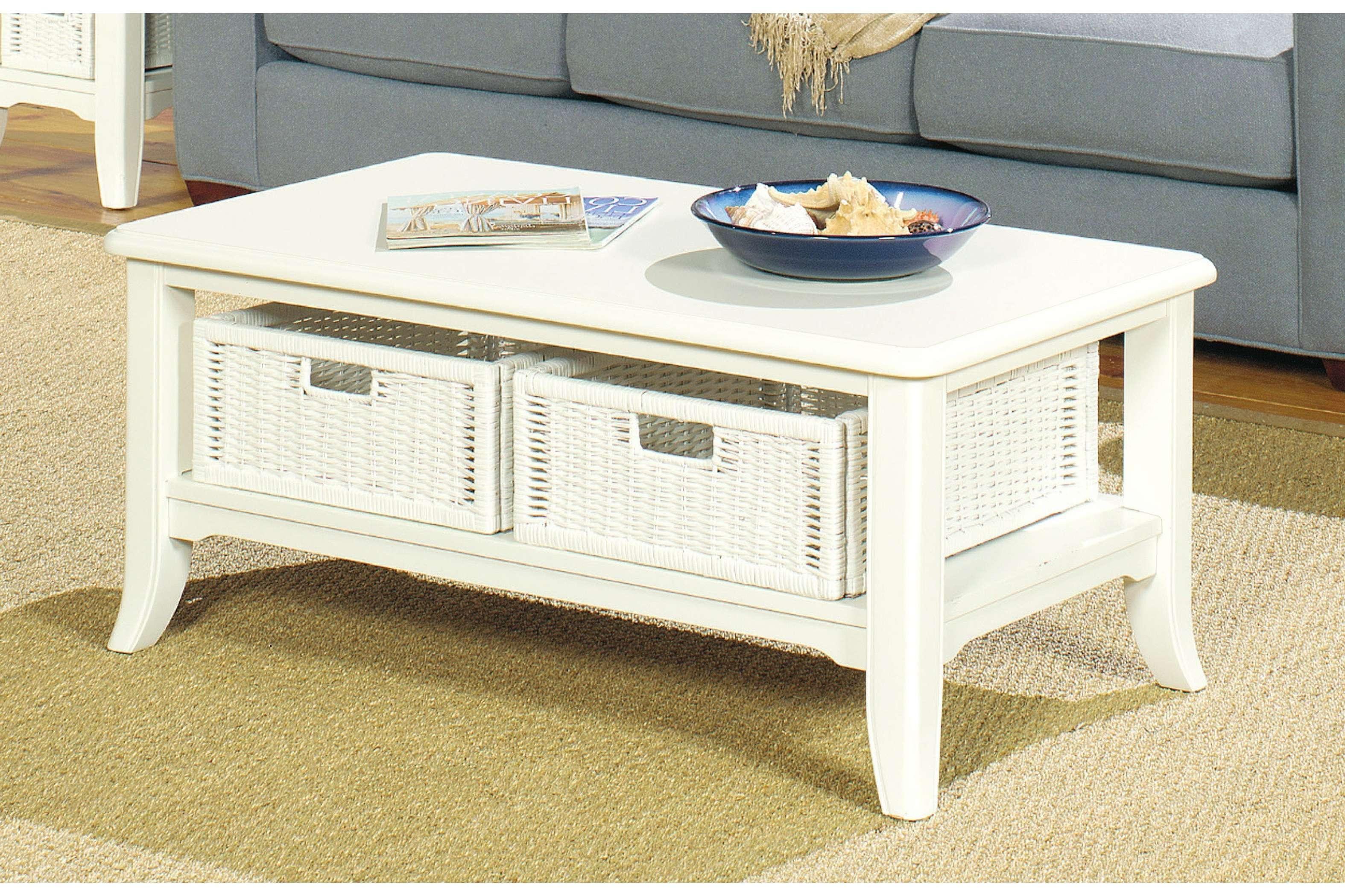 Coffee Tables With Wicker Basket Storage • Coffee Table Ideas With Newest Coffee Table With Wicker Basket Storage (View 11 of 20)