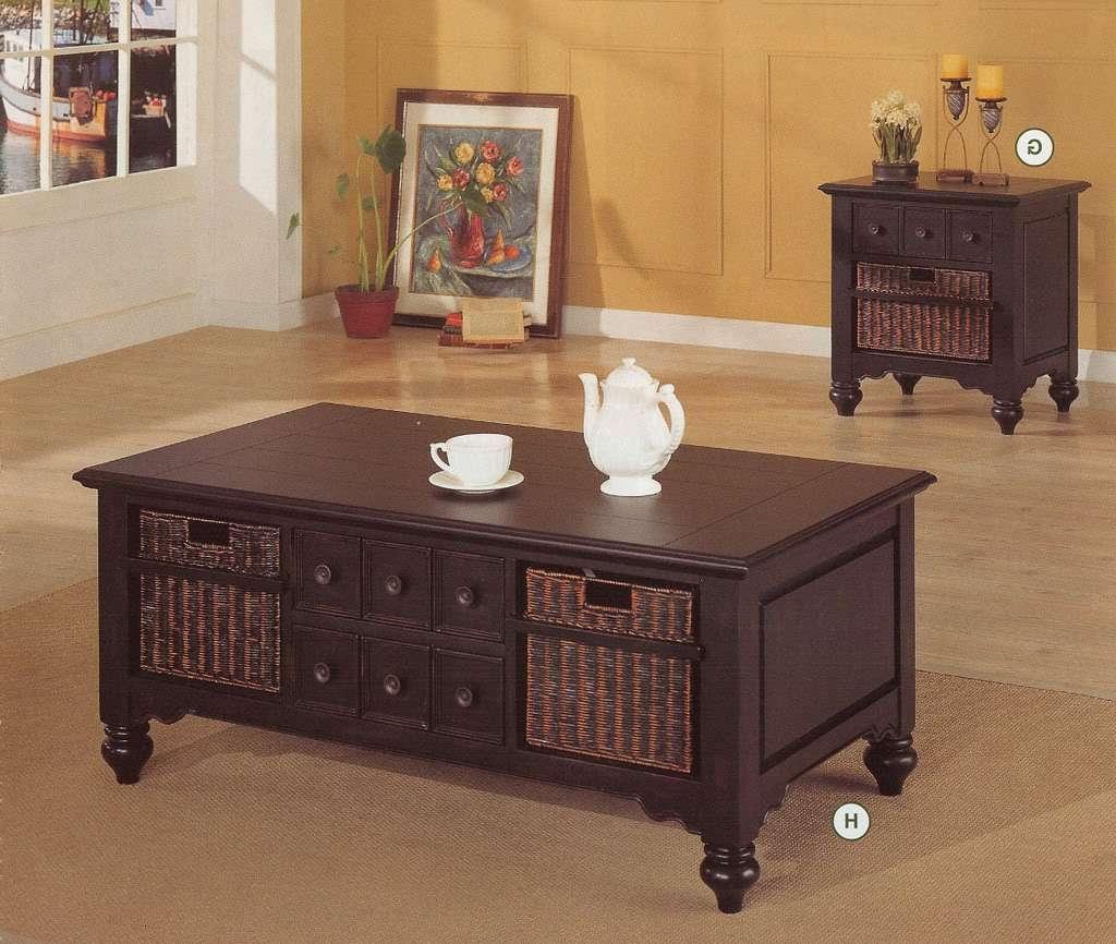 Coffee Tables With Wicker Basket Storage • Coffee Table Ideas With Well Liked Coffee Table With Wicker Basket Storage (View 12 of 20)