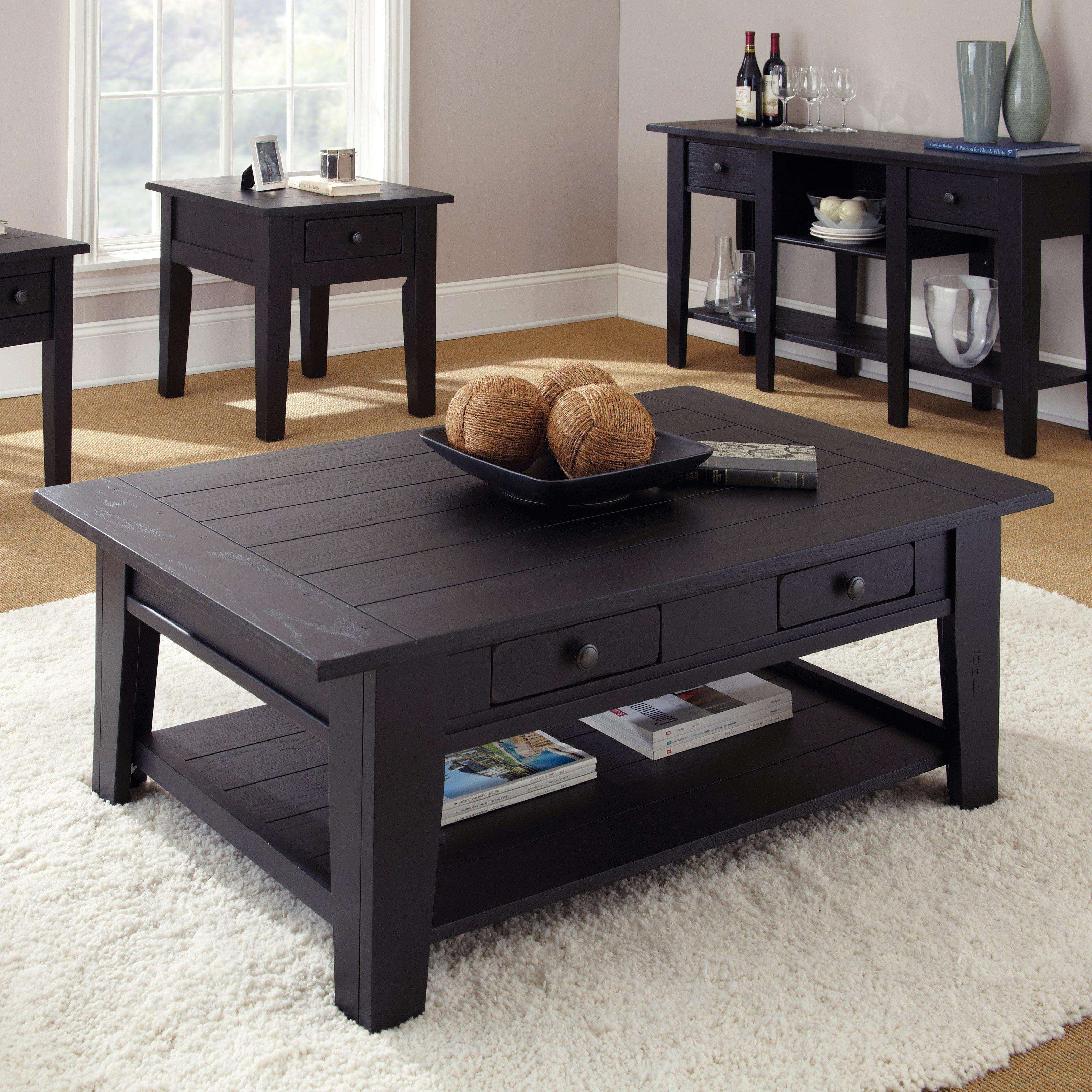 Coffee Tables : Wonderful Coffee Table Black Wood Tables With Regarding Popular Black Wood Coffee Tables (View 8 of 20)