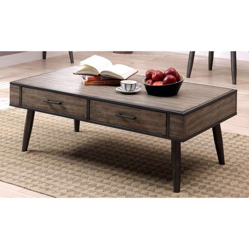 Coffee Tables : Wood Top Coffee Table Skinny Iron And Glass Large Throughout Most Current Coffee Tables With Rounded Corners (View 16 of 20)