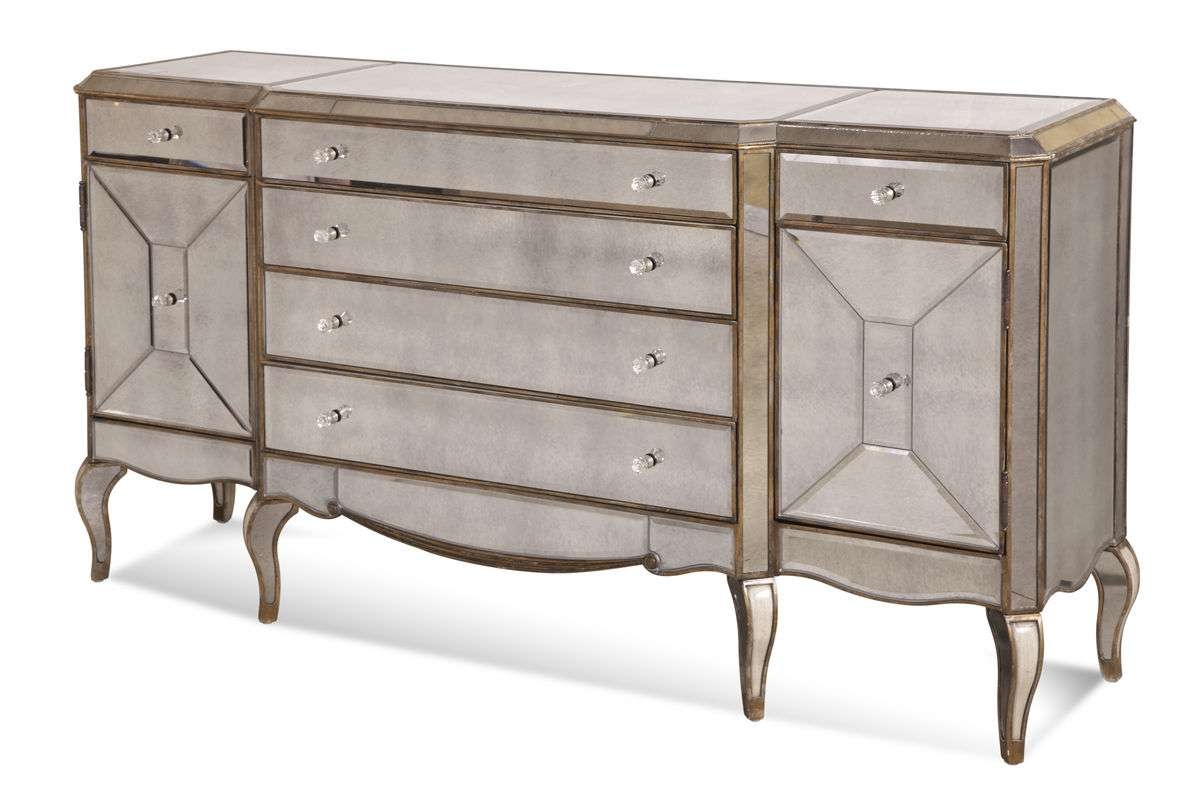 Collette Sideboard (Antique Mirror & Gold Finish) – [D1267 576 In Antique Sideboards With Mirror (View 7 of 20)