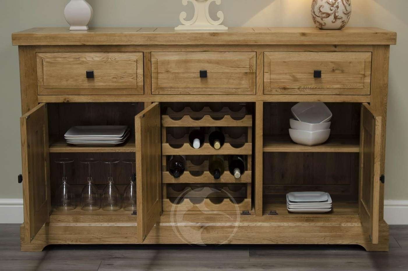Coniston Rustic Solid Oak Large Sideboard | Oak Furniture Uk In Rustic Oak Large Sideboards (View 15 of 20)