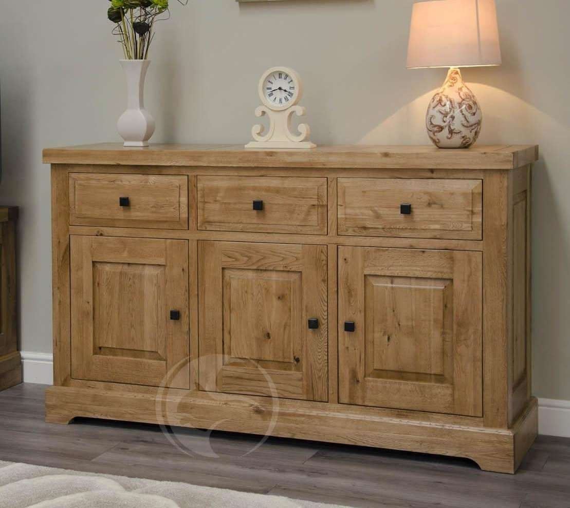 Coniston Rustic Solid Oak Large Sideboard | Oak Furniture Uk Throughout Rustic Oak Large Sideboards (View 4 of 20)