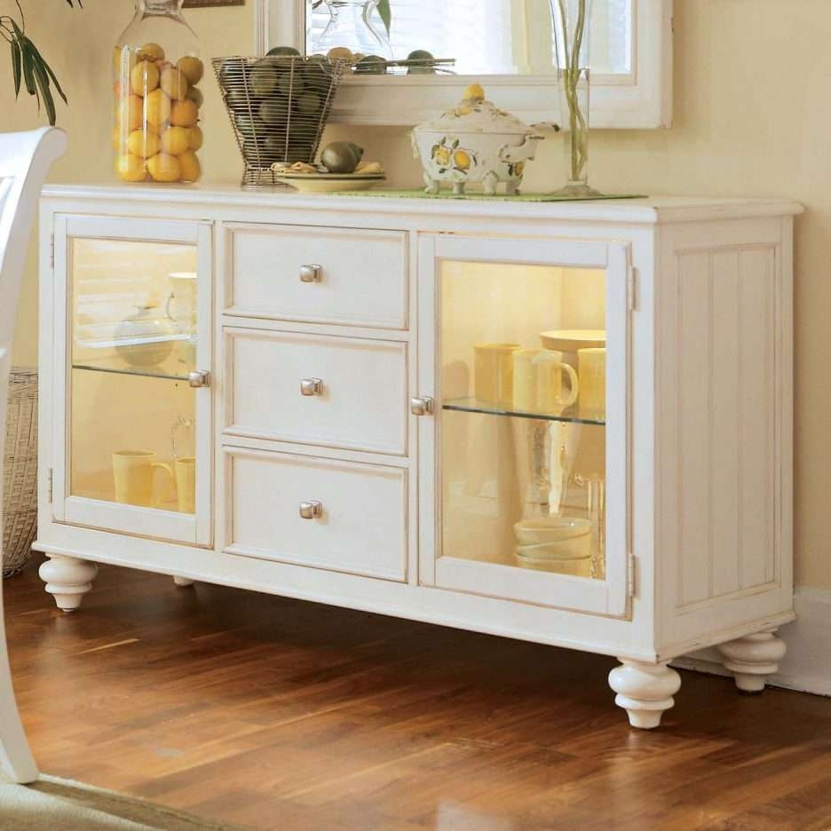 Console Tables : Dining Hutch Buffet Console Kitchen Credenza For Long Thin Sideboards (View 3 of 20)