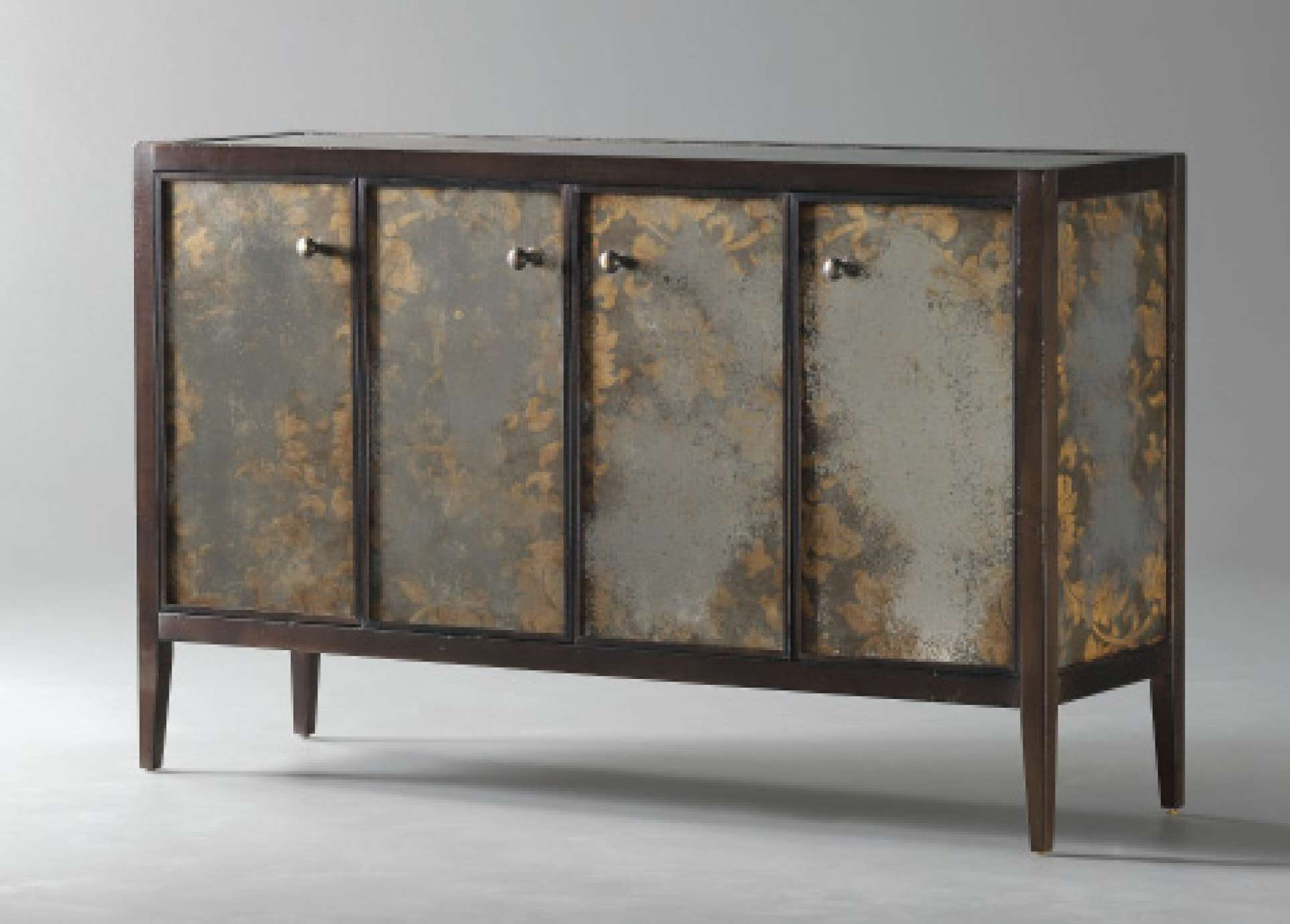 Console Tables : Elegant Mirrored Buffet Console Table Front Entry Intended For Mirrored Sideboards And Buffets (View 11 of 20)