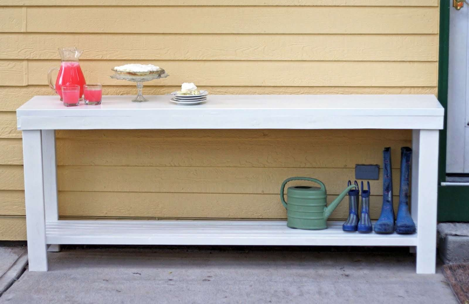 Console Tables : Img Copy Console Buffet Table Running With Pertaining To Outdoor Sideboards Tables (View 6 of 20)