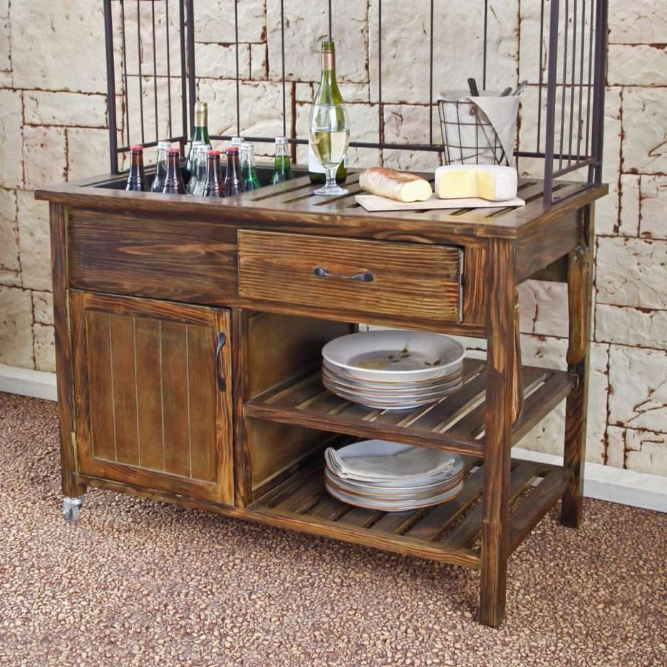 Console Tables : Outdoor Sideboards And Buffets Buffet Cabinet In Outdoor Sideboards Tables (View 3 of 20)