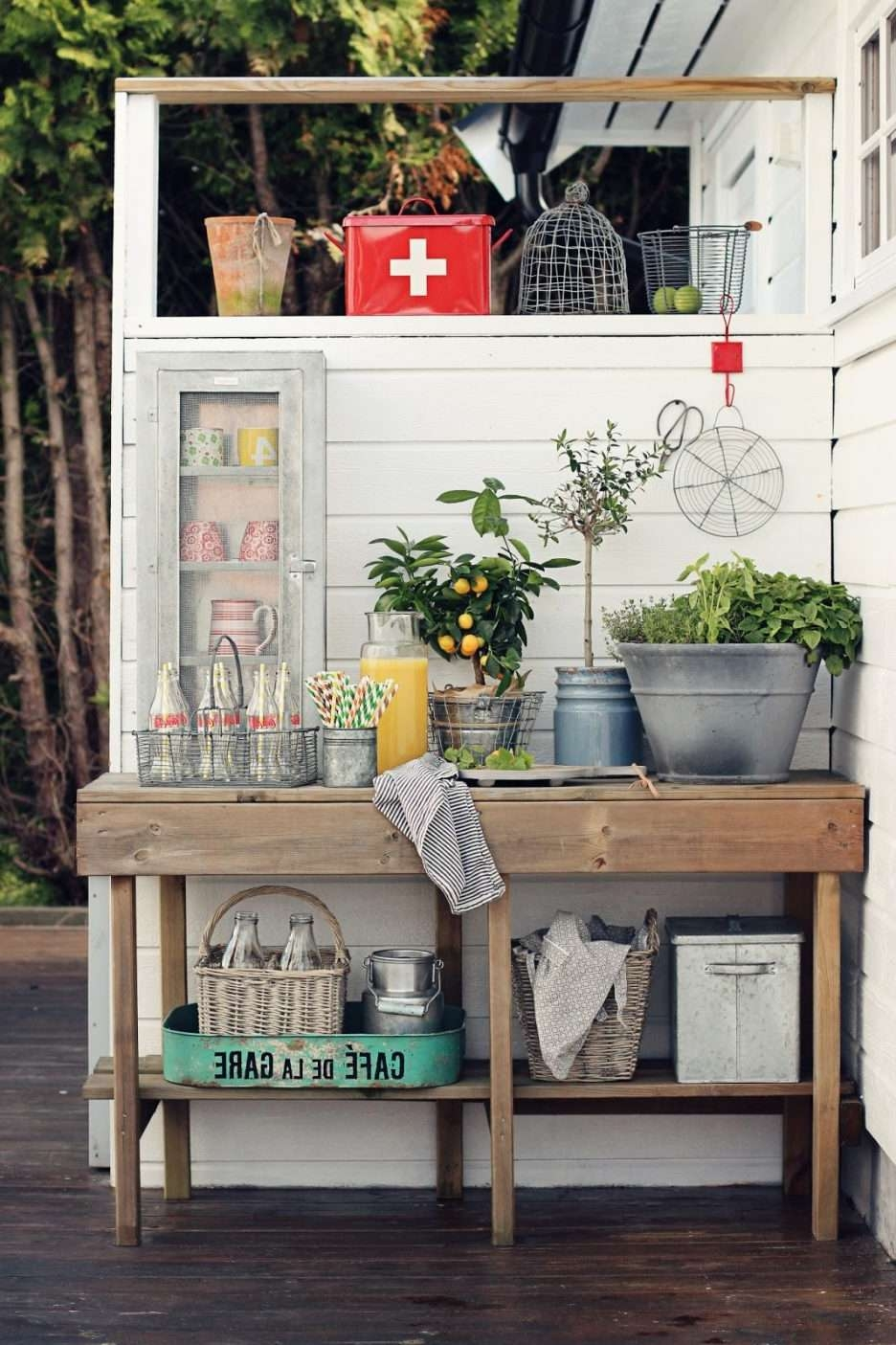 Console Tables : Outdoor Sideboards And Buffets Buffet Table With With Regard To Outdoor Sideboards Tables (View 14 of 20)