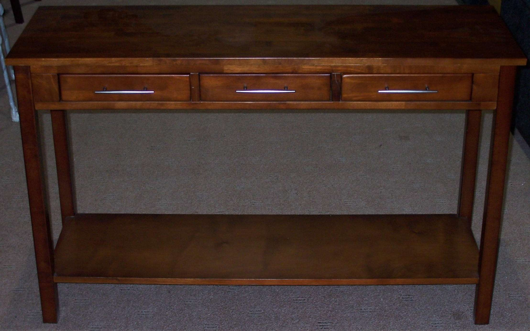 Console Tables : Popular Dark Wood Hall Table With Mango Small Within Small Dark Wood Sideboards (View 3 of 20)