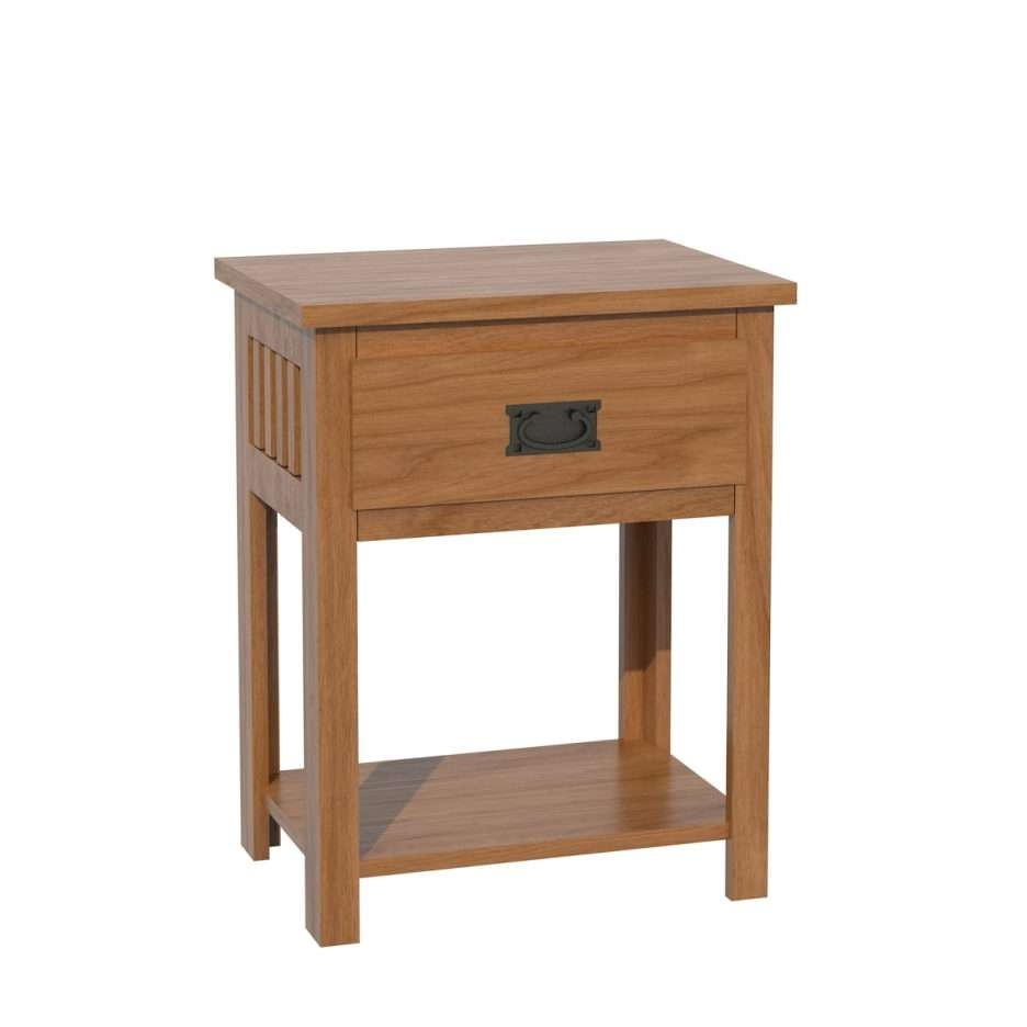 Console Tables : Shaker Three Drawer Nightstand For Mission Style In Unfinished Sideboards (View 4 of 20)