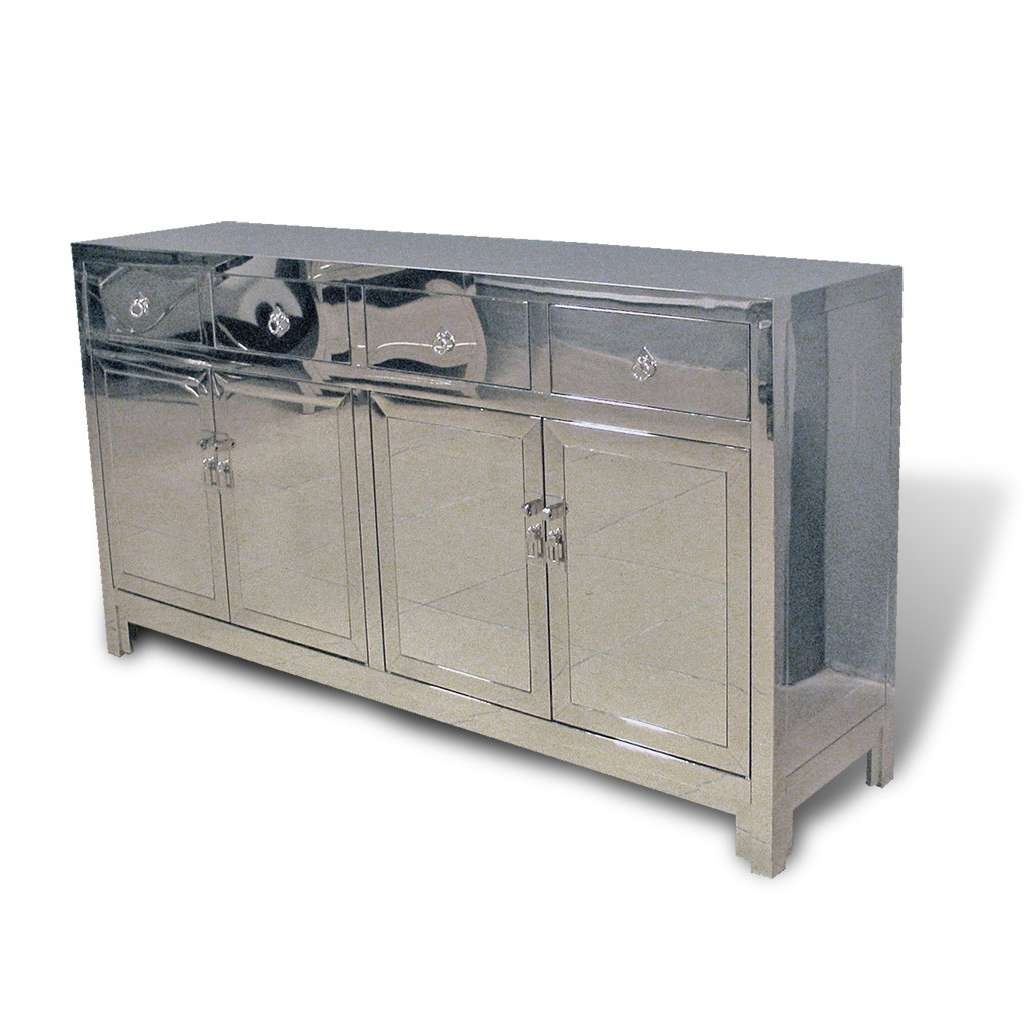 Contemporary Asian Stainless Steel Buffet In Chrome Regarding Asian Sideboards (View 9 of 20)