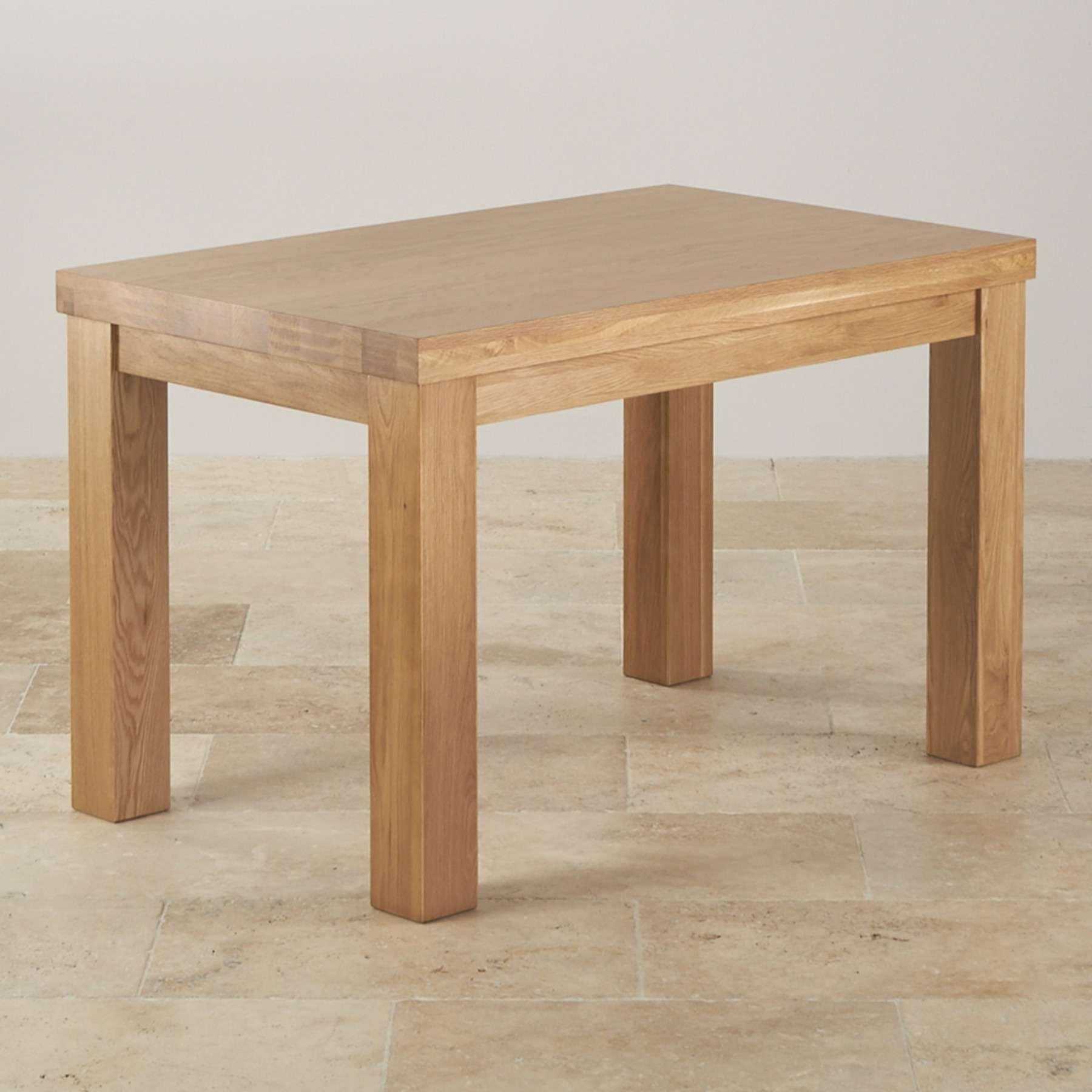 "Contemporary Chunky 4Ft X 2Ft 6"" Natural Solid Oak Dining Table Pertaining To Trendy Chunky Oak Coffee Tables (View 6 of 20)"