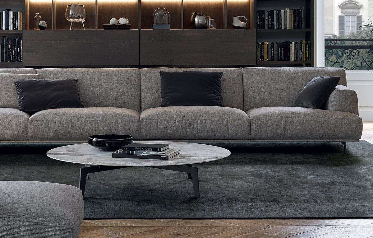 Contemporary Coffee Table / Mdf / Metal / Marble – Tribeca – Poliform Within Latest Tribeca Coffee Tables (View 4 of 20)