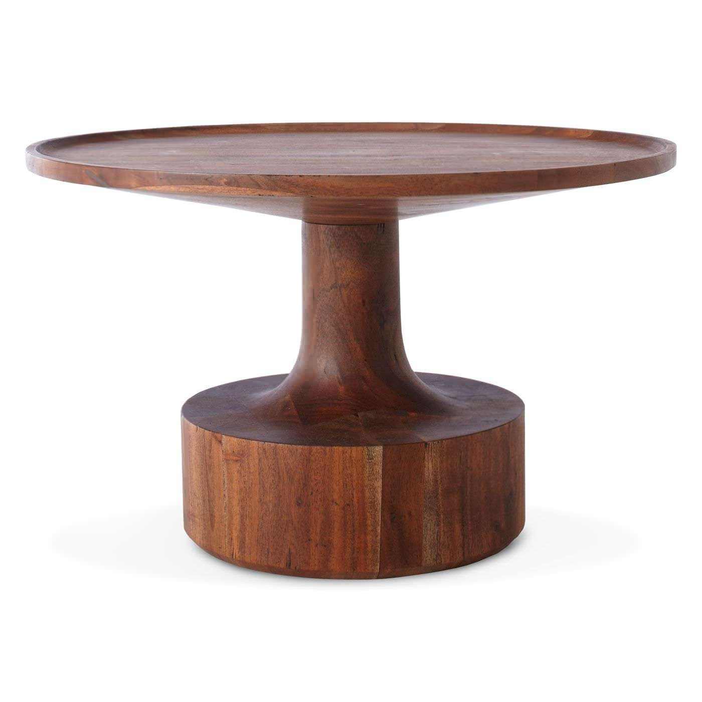 Contemporary Coffee Table / Solid Wood / Round – Turn – Blu Dot Pertaining To Best And Newest Coffee Tables Solid Wood (View 8 of 20)