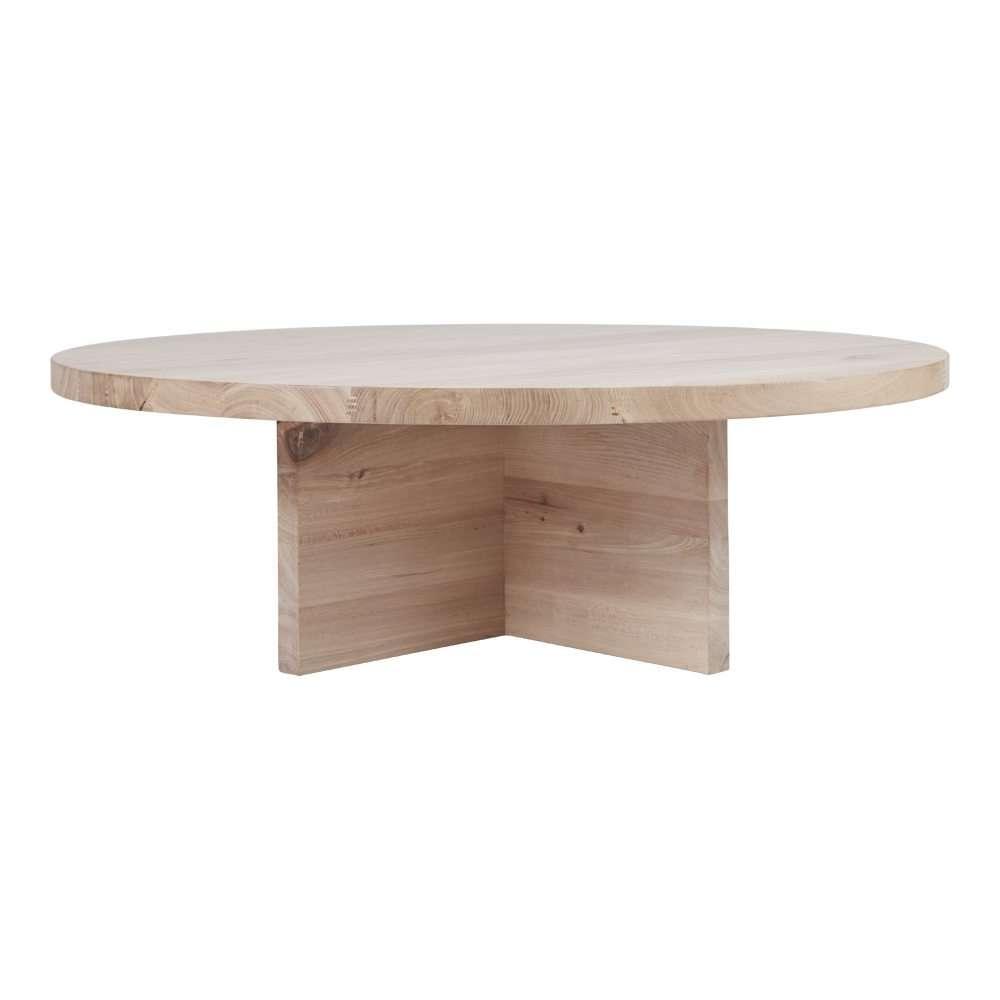 Contemporary Round Oak Coffee Table – Designer Accent Tables For Current Round Oak Coffee Tables (View 6 of 20)