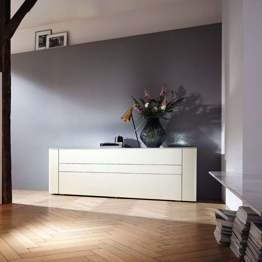 Contemporary Sideboard / Lacquered Wood / White – Gentis – Hülsta Throughout Hulsta Sideboards (View 12 of 20)
