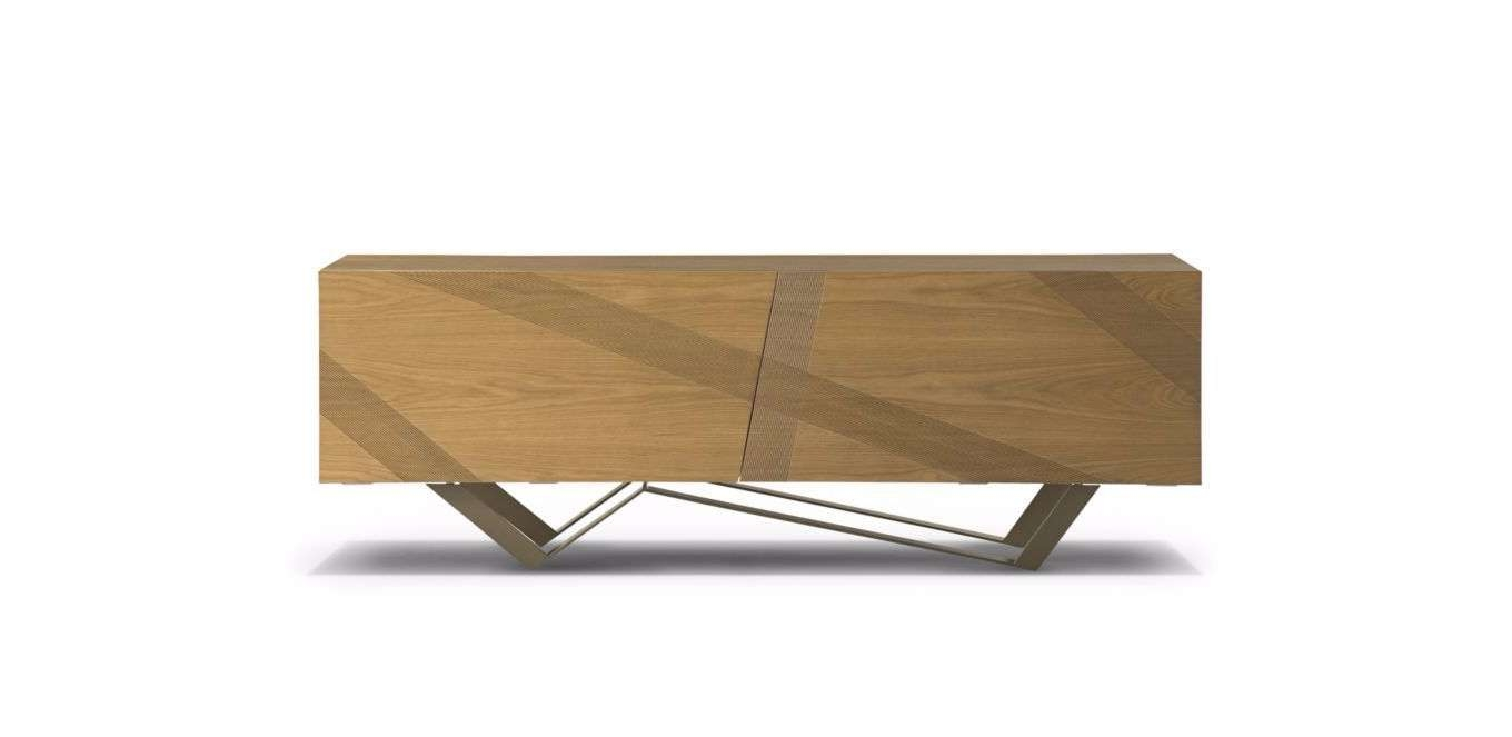 Contemporary Sideboard / Oak / Mdf / Steel – Trackluigi Within Roche Bobois Sideboards (View 4 of 20)