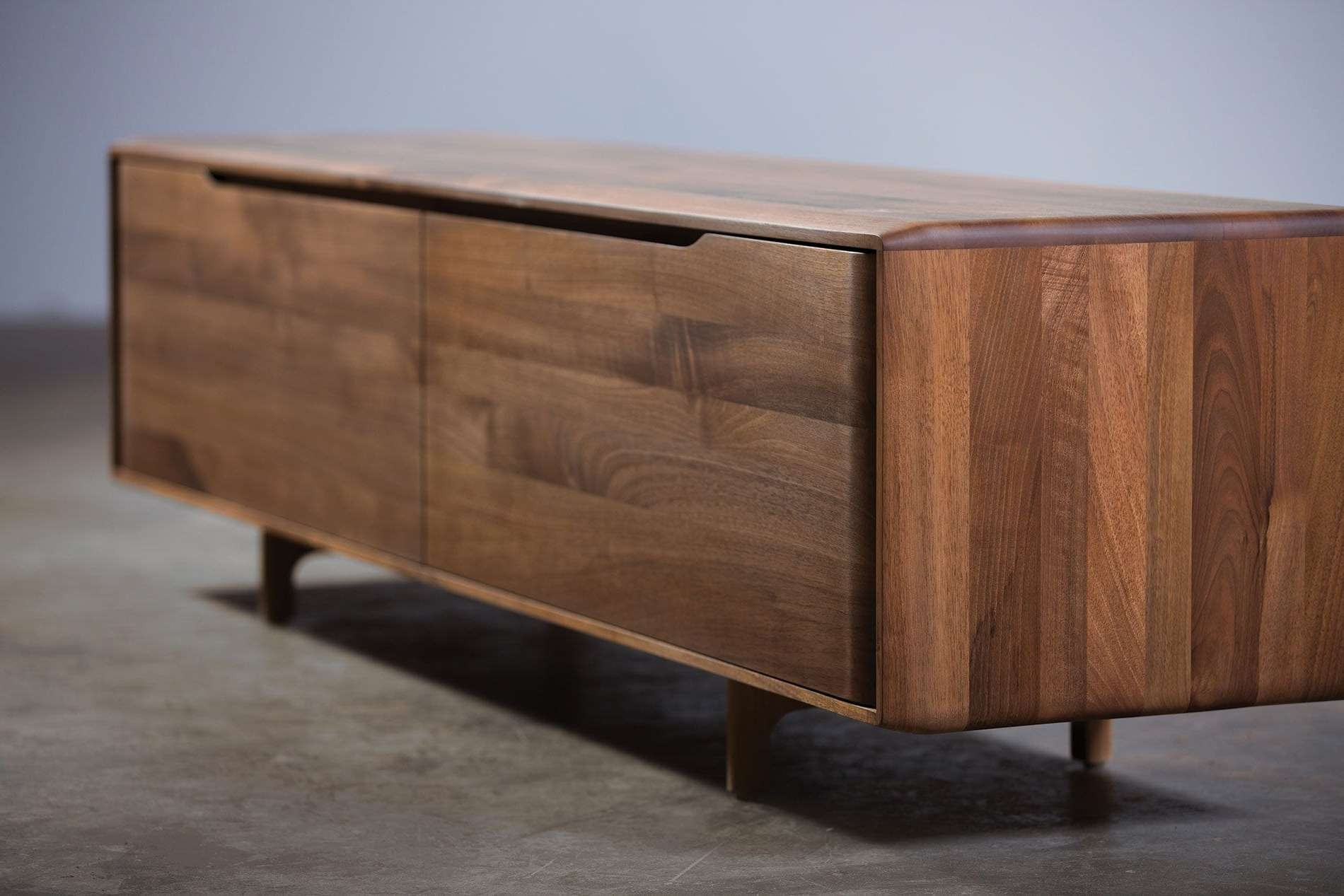 Contemporary Sideboard / Oak / Walnut / Solid Wood – Invito Regarding Real Wood Sideboards (View 2 of 20)