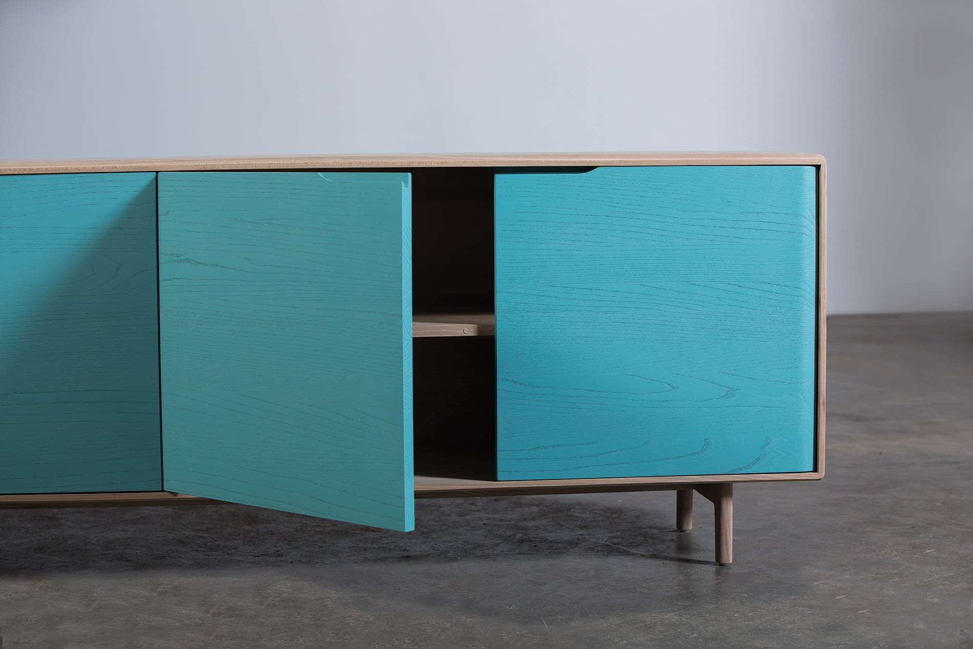 Contemporary Sideboard / Oak / Walnut / Solid Wood – Invito With Regard To Turquoise Sideboards (View 5 of 20)