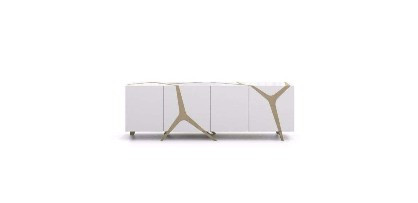 Contemporary Sideboard / Oak / White / Black – Mangrovemarco Pertaining To Roche Bobois Sideboards (View 5 of 20)