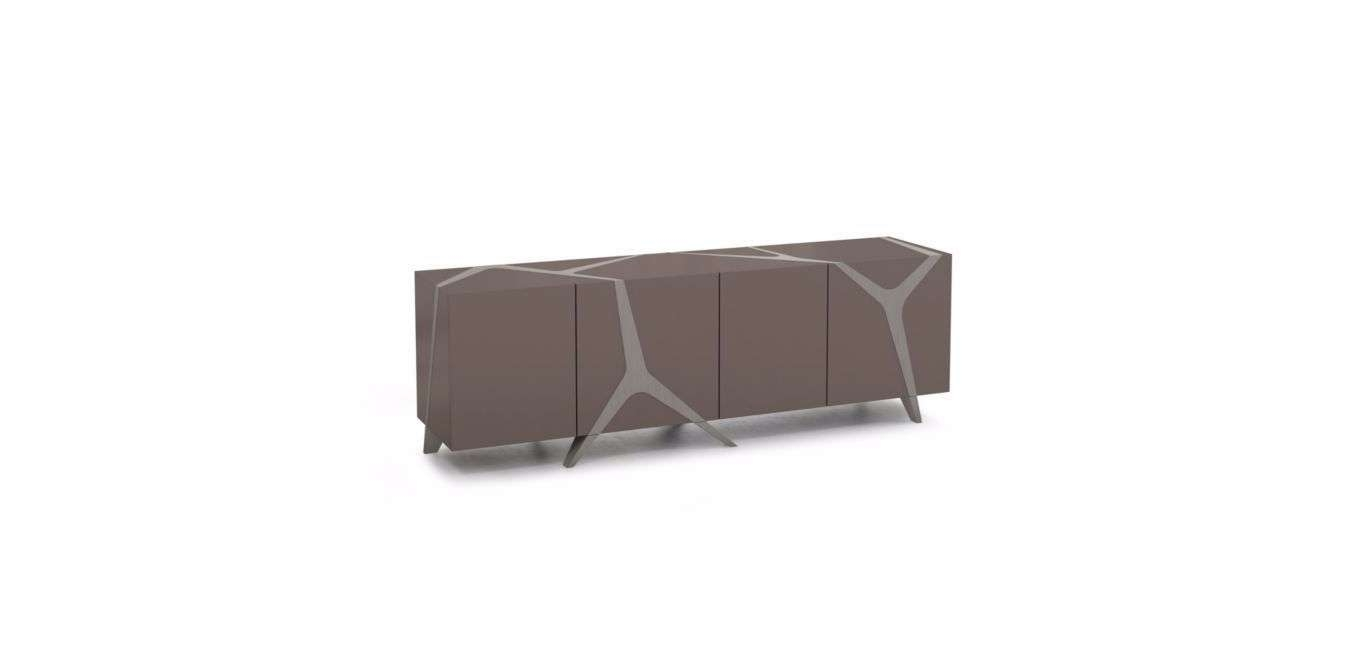 Contemporary Sideboard / Oak / White / Black – Mangrovemarco Within Roche Bobois Sideboards (View 16 of 20)
