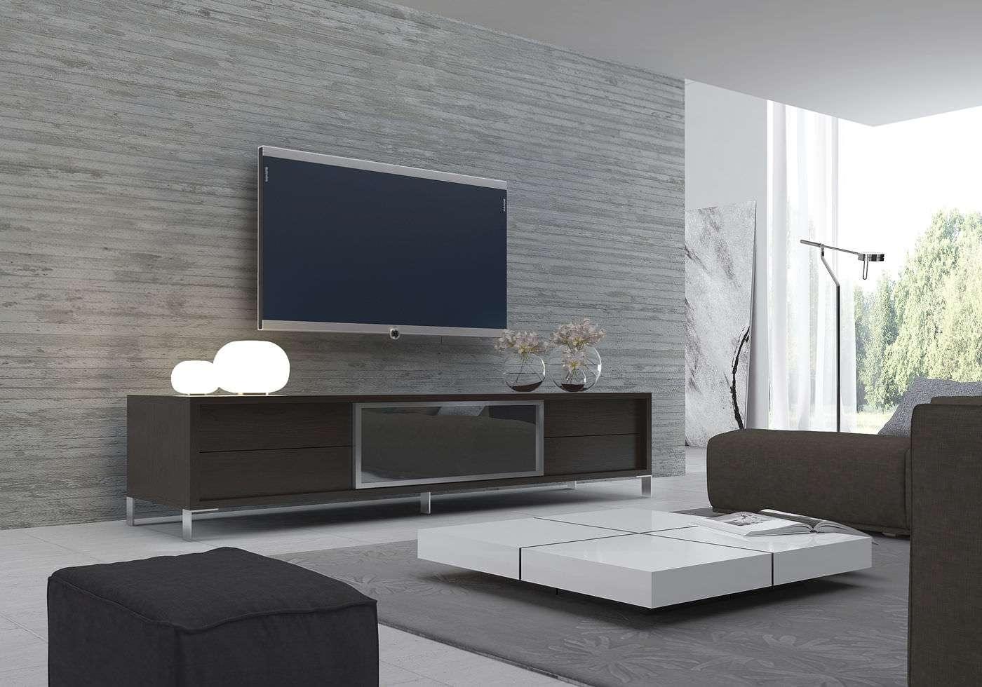 Contemporary Tv Cabinet / Wooden – Lexington – Modloft Throughout Wenge Tv Cabinets (View 15 of 20)