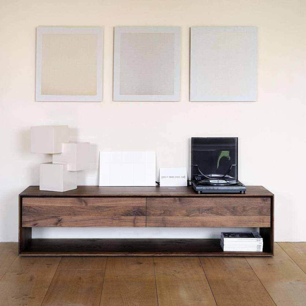 Showing Gallery Of Walnut Tv Cabinets With Doors View 7 Of 20 Photos  # Contemporary Tv Stands