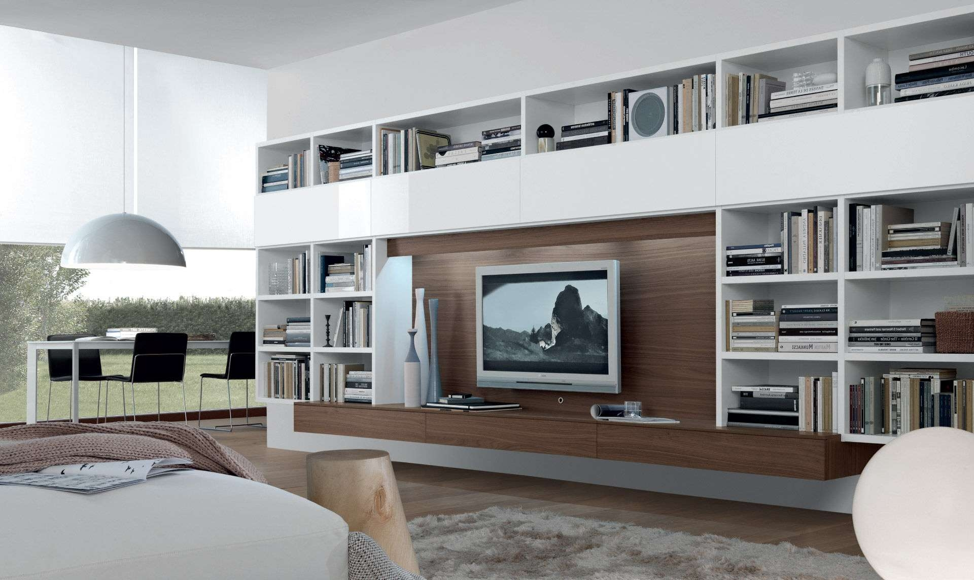 Contemporary Tv Wall Unit Open System Jesse Gallery Including With Regard To Full Wall Tv Cabinets (View 2 of 20)