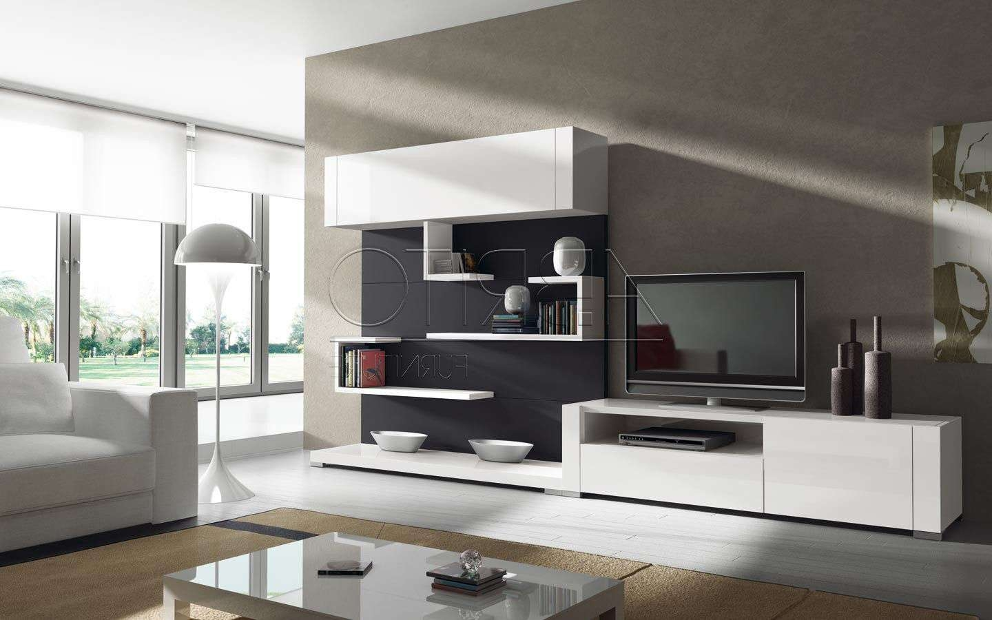 Contemporary Tv Wall Units Australia Modern Throughout Cabinets View
