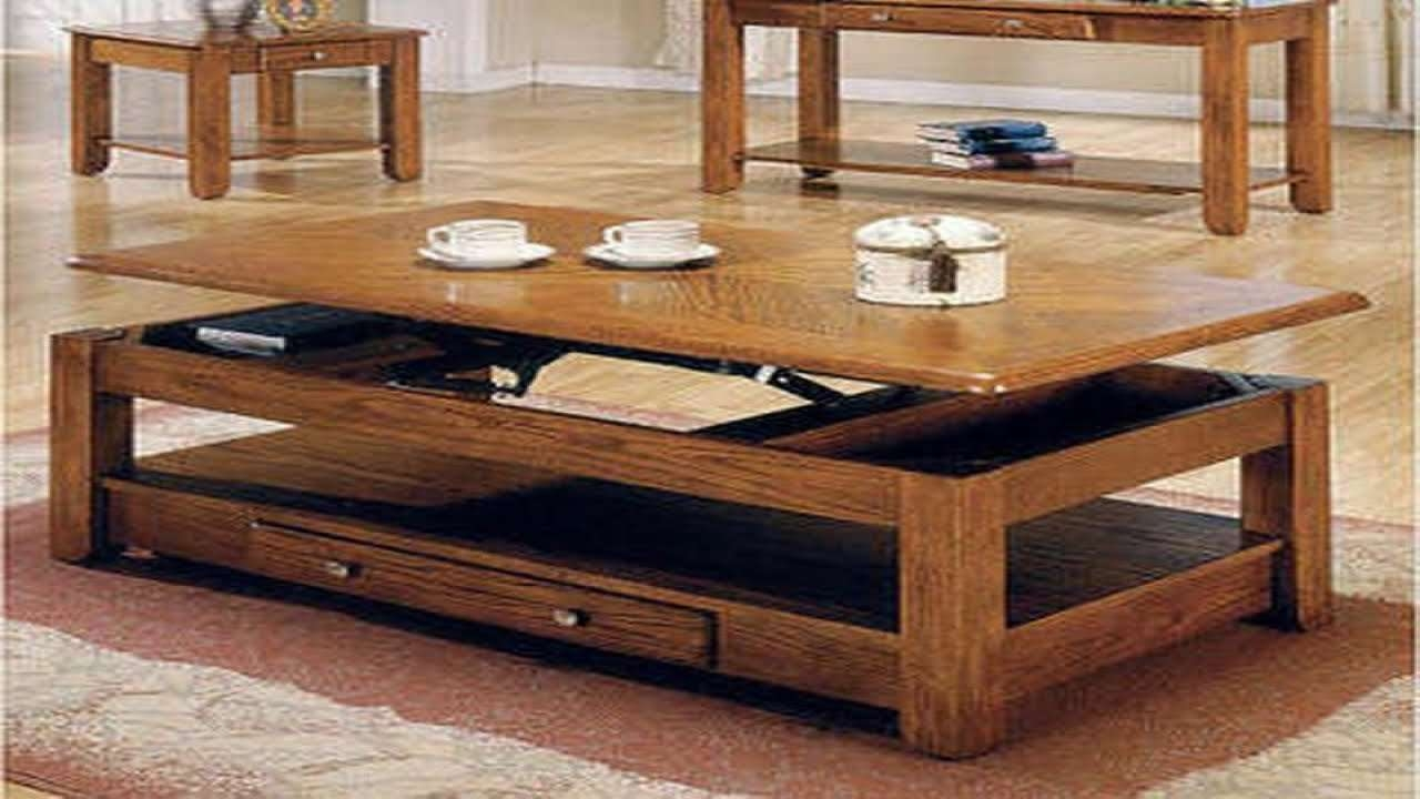 Convertible Coffee Table – Youtube Pertaining To 2017 Coffee Table To Dining Table (View 6 of 20)