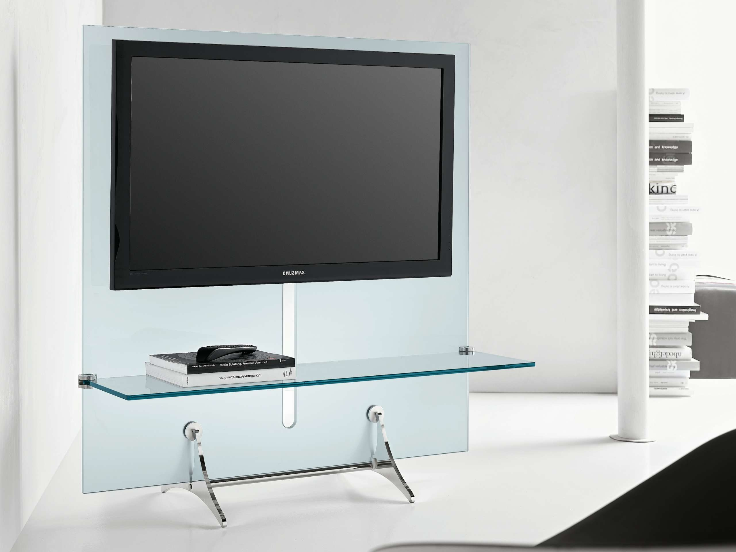 Cool Minimalist Glass Tv Stand With Shelf Of Cool Tv Stands Throughout Glass Tv Cabinets (View 5 of 20)