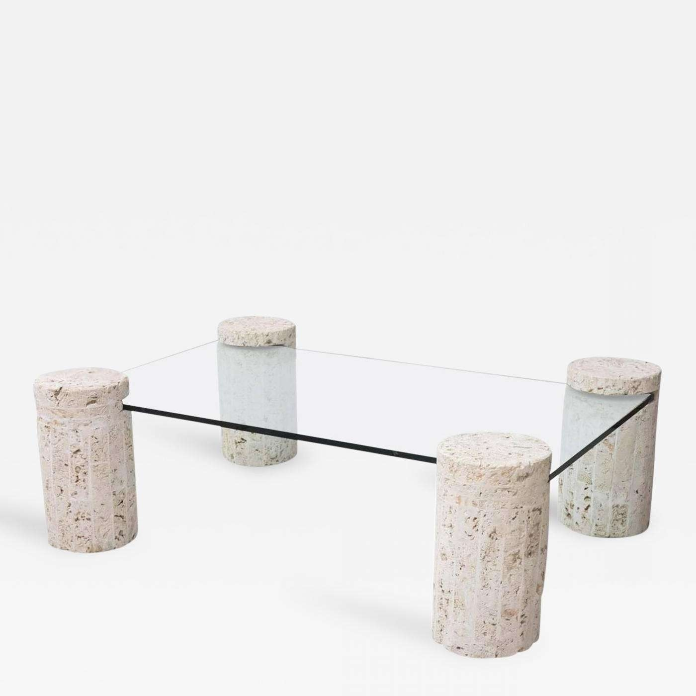 Coral Stone Coffee Table With Glass Top Throughout Most Popular Stone Coffee Table (View 9 of 20)