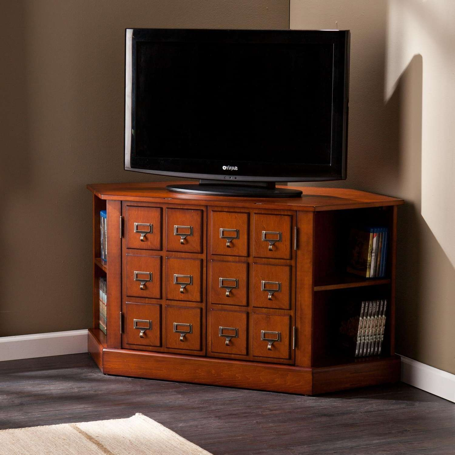 Corner Apothecary Tv/media Stand With Regard To Mahogany Corner Tv Cabinets (View 6 of 20)