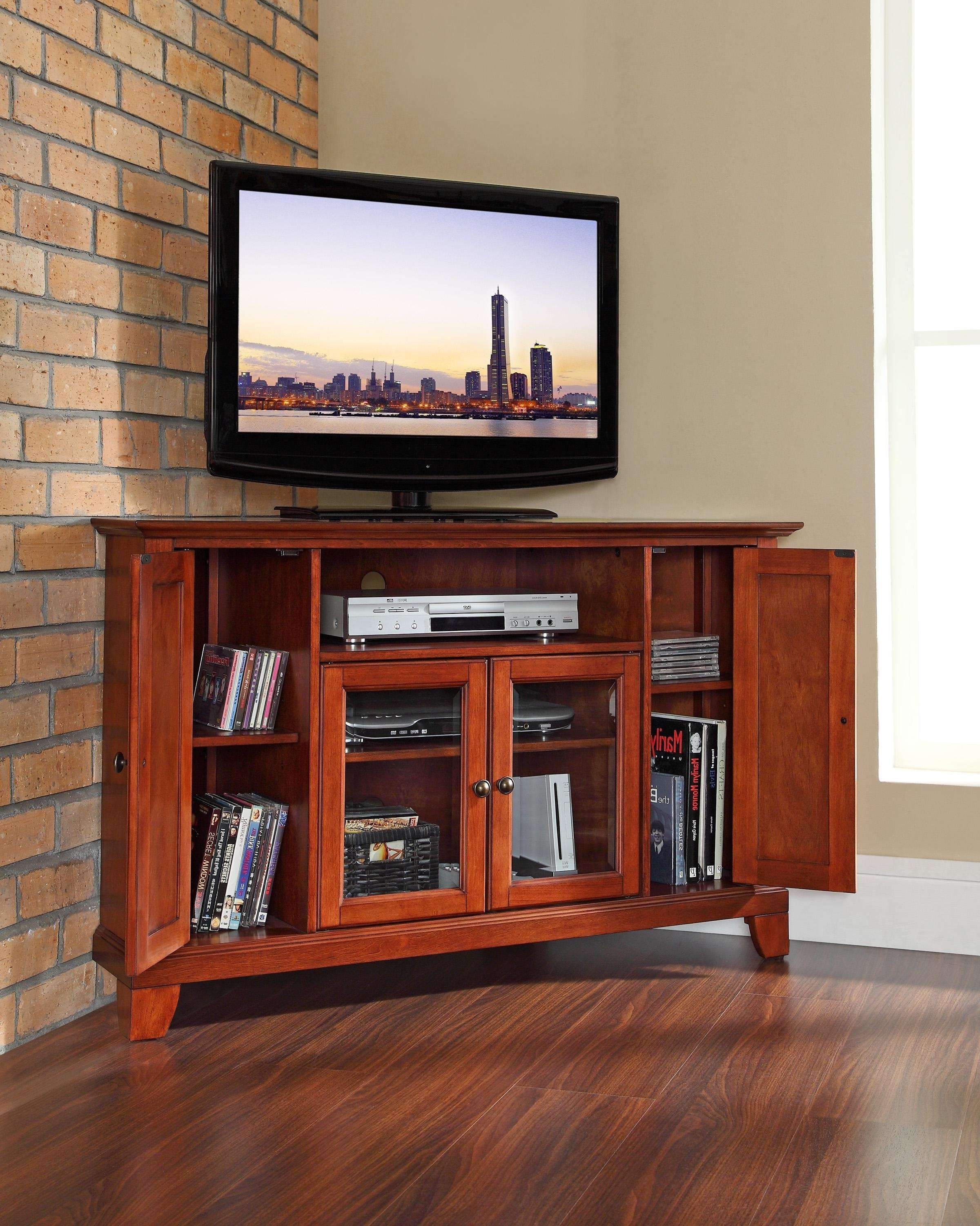 Corner Cabinet For Large Tv • Corner Cabinets Regarding Large Tv Cabinets (View 7 of 20)
