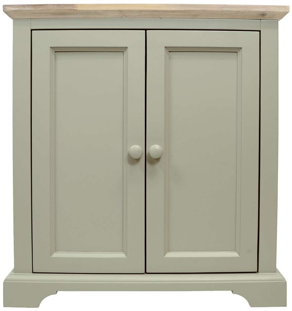 Corner Sideboard, Kitchen Corner Cupboard Unit With 2 Doors Throughout Corner Sideboards (View 4 of 20)