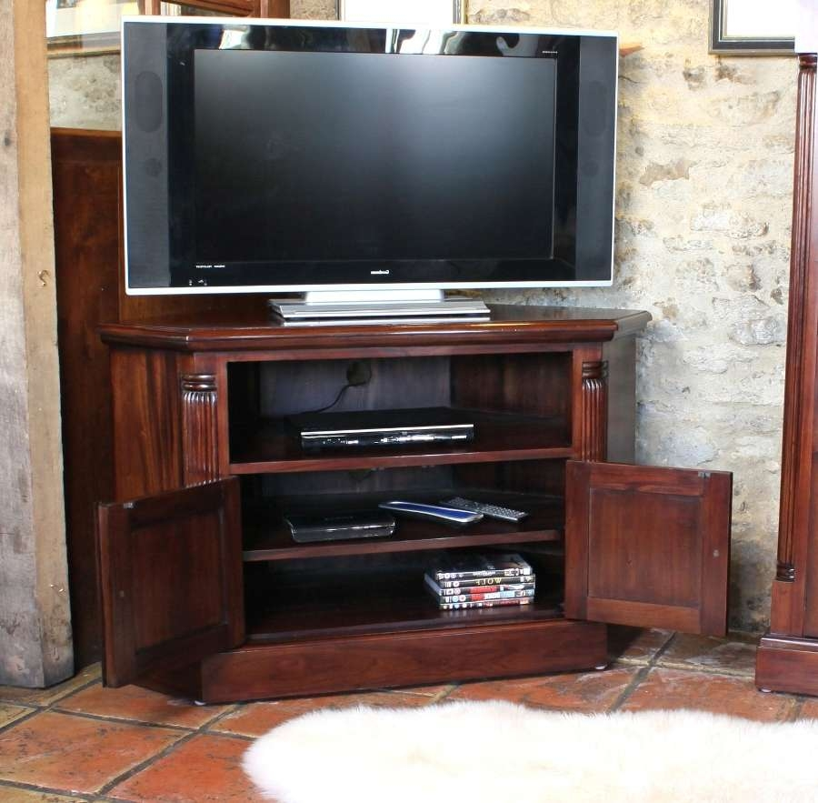 Corner Television Cabinet (Mahogany) • Akd Furniture With Regard To Mahogany Corner Tv Cabinets (View 7 of 20)