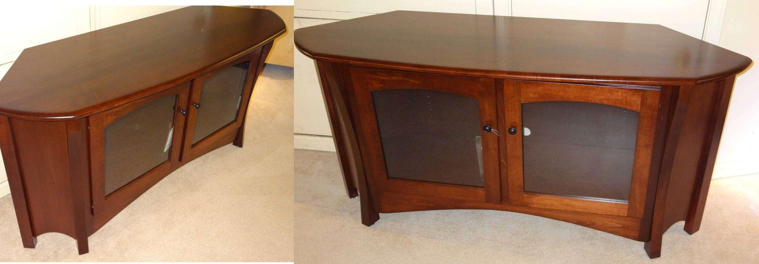 Corner Tv Cabinet Cherry Wood • Corner Cabinets With Cherry Wood Tv Cabinets (View 7 of 20)