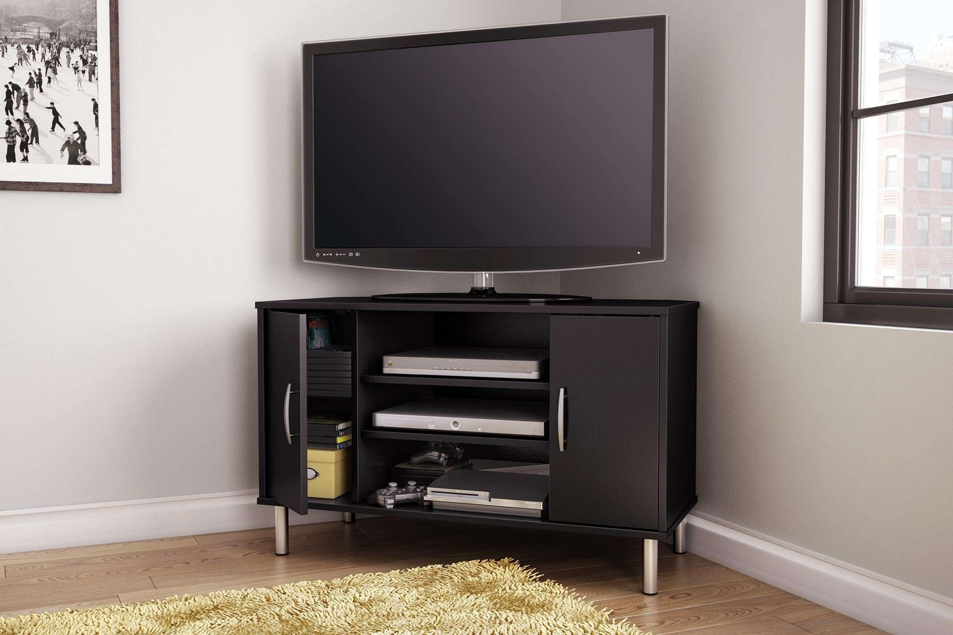 Corner Tv Cabinets For Flat Screen Tvs With Doors • Corner Cabinets Throughout Corner Tv Cabinets For Flat Screens With Doors (View 8 of 20)