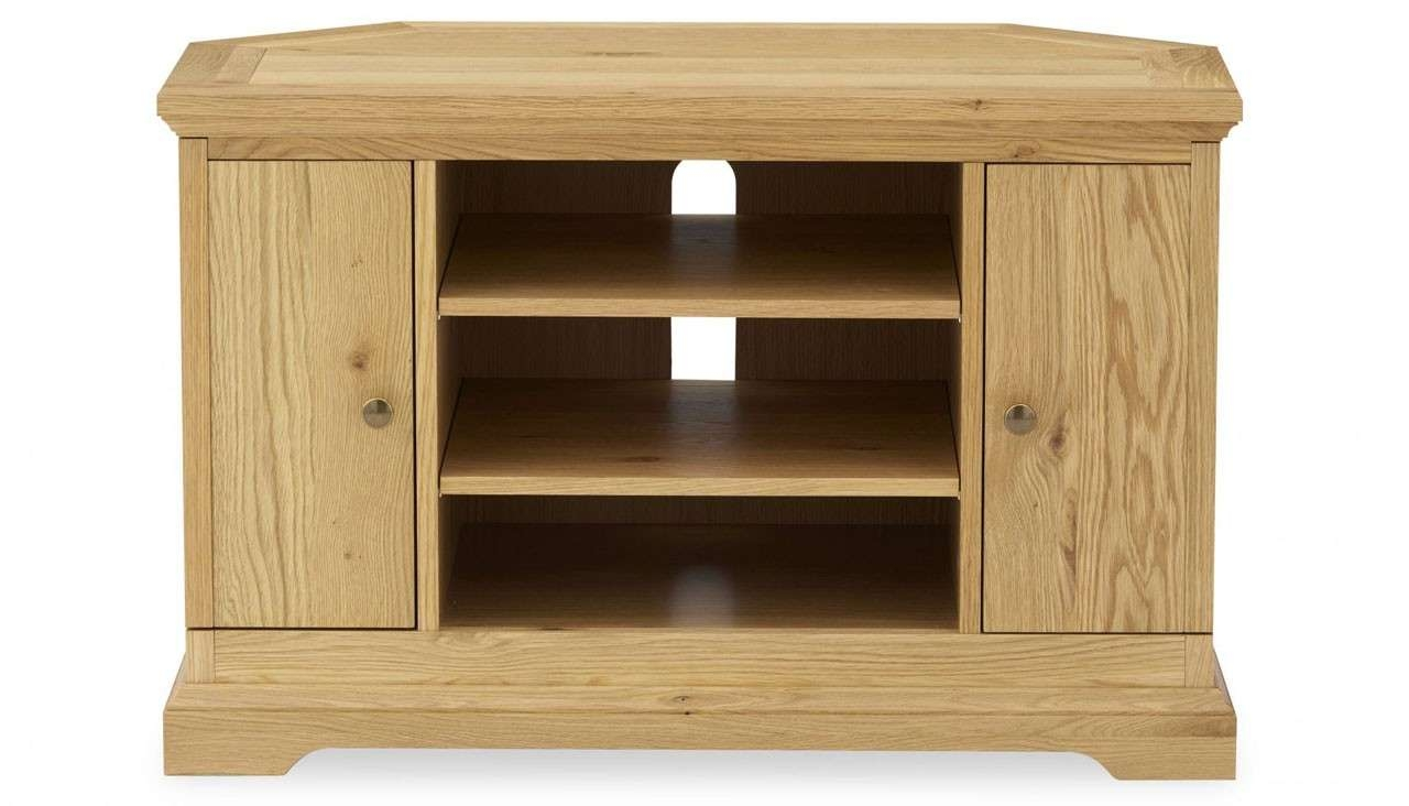 Corner Tv Unit | Provence Oak Range | Ahf Furniture With Tv Cabinets Corner Units (View 9 of 20)