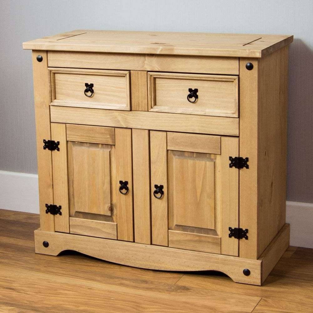 Corona Panama Sideboard Door Drawer Cupboard Solid Pine Waxed With Pine Sideboards (View 13 of 20)