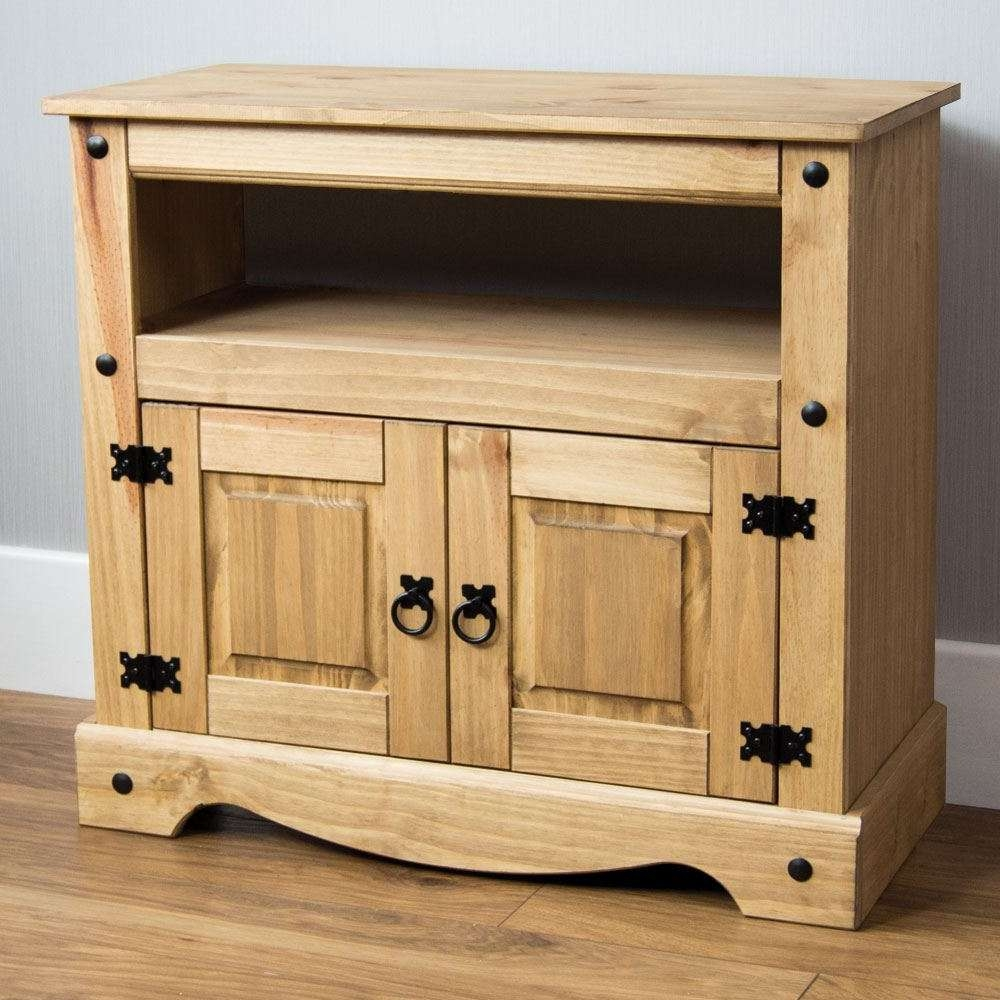 Corona Panama Tv Cabinet Media Dvd Unit Solid Pine Wood Mexican Pertaining To Solid Pine Tv Cabinets (View 2 of 20)
