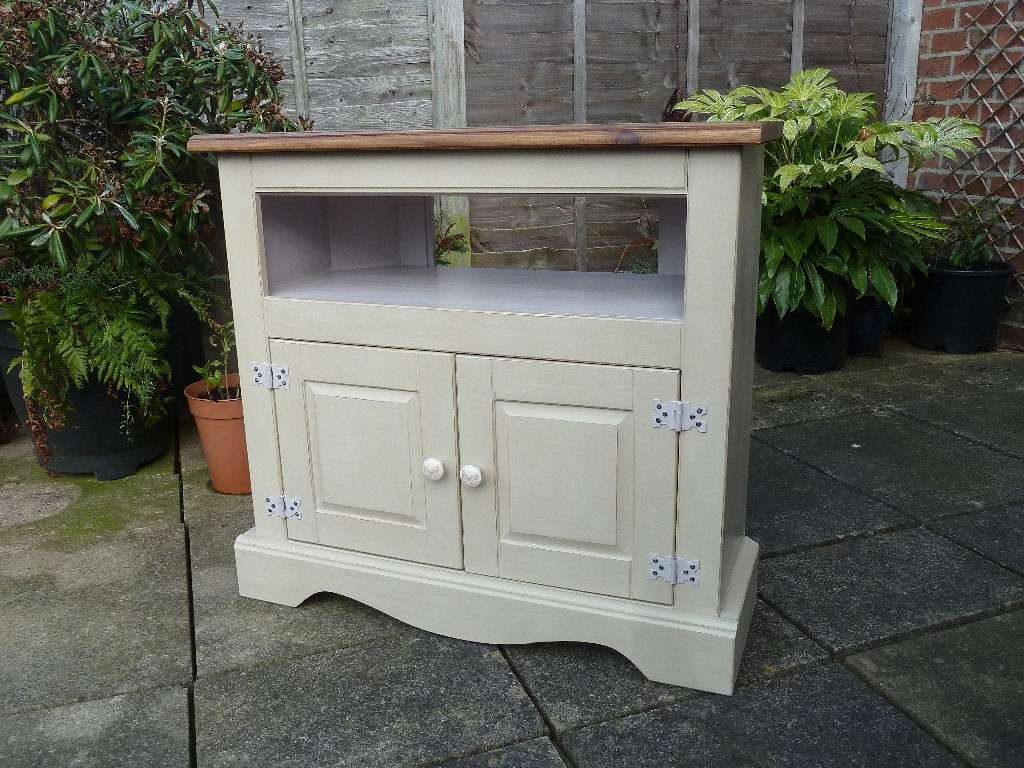 Corona Pine Shabby Chic Tv Cabinet | In Woodville, Derbyshire Throughout Shabby Chic Tv Cabinets (View 4 of 20)