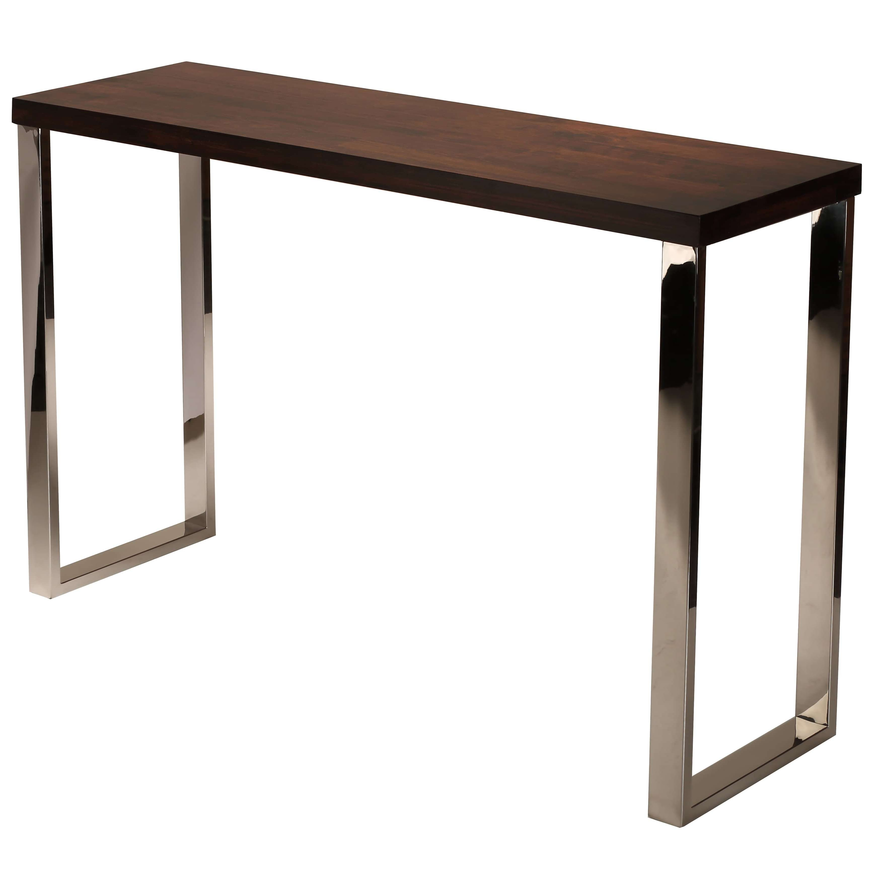 Cortesi Home Achille Contemporary Console Table With Chrome Legs With Well Liked Coffee Tables With Chrome Legs (View 4 of 20)